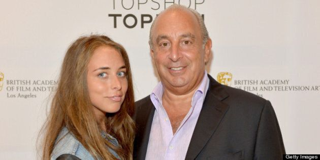 LOS ANGELES, CA - APRIL 30:  Chloe Green (L) and Proprietor Sir Philip Green attends BAFTA Los Angeles and Sir Philip Green Celebrate the British New Wave at Topshop Topman at The Grove on April 30, 2013 in Los Angeles, California.  (Photo by Charley Gallay/Getty Images for BAFTA LA)