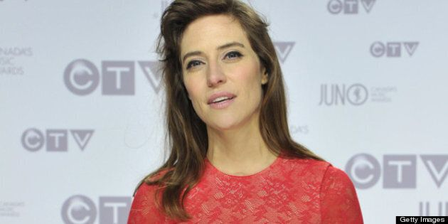 OTTAWA, ON - APRIL 01: Feist poses on the red carpet 2012 JUNO Awards at Scotiabank Place on April 1,...