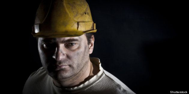 portrait of the worker on
