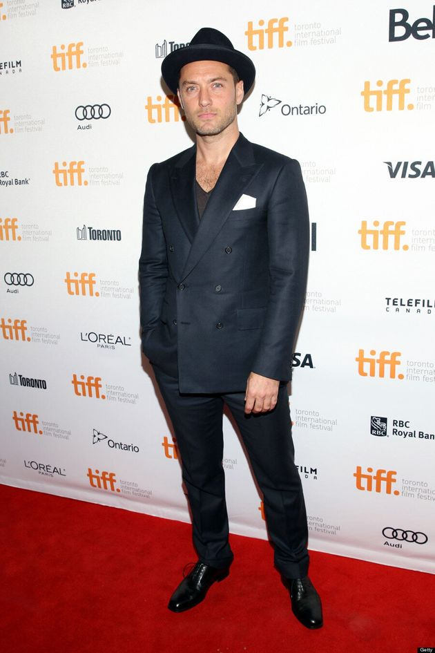 Jude Law TIFF 2013: 'Gattaca' Actor's Pork Pie Hat Sets The Mood On Red Carpet