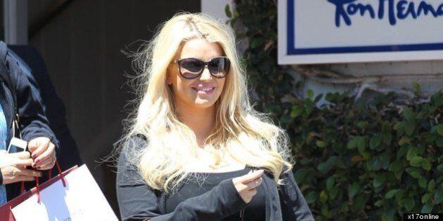 Jessica Simpson's Bag Style: Pregnant Star Shows Off Orange Hermès Birkin
