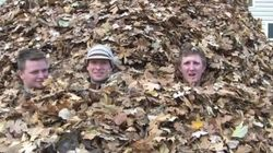 WATCH: An Epic Pile Of Leaves To Jump