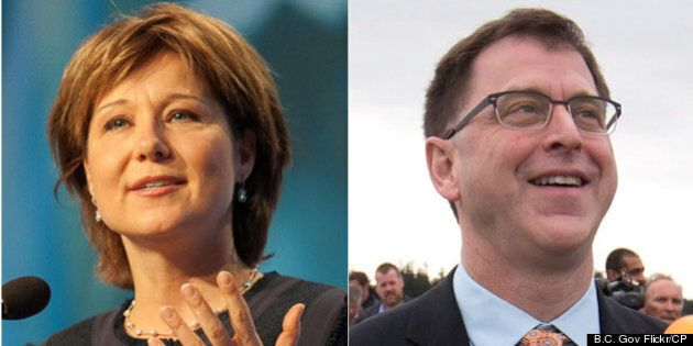 Christy Clark, Adrian Dix Stick To Election Comfort