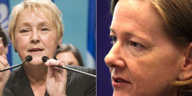 Alison Redford, Pauline Marois Talk Eastern Oil Pipeline