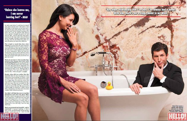 The Bachelor Canada: Brad And Bianka's First Photo Shoot Together For Hello!