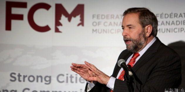 Mulcair Says Cities, Towns Face An 'Infrastructure