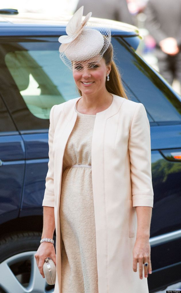 Duchess Of Cambridge's Baby Bump Pretty In Peach At Queen's Coronation