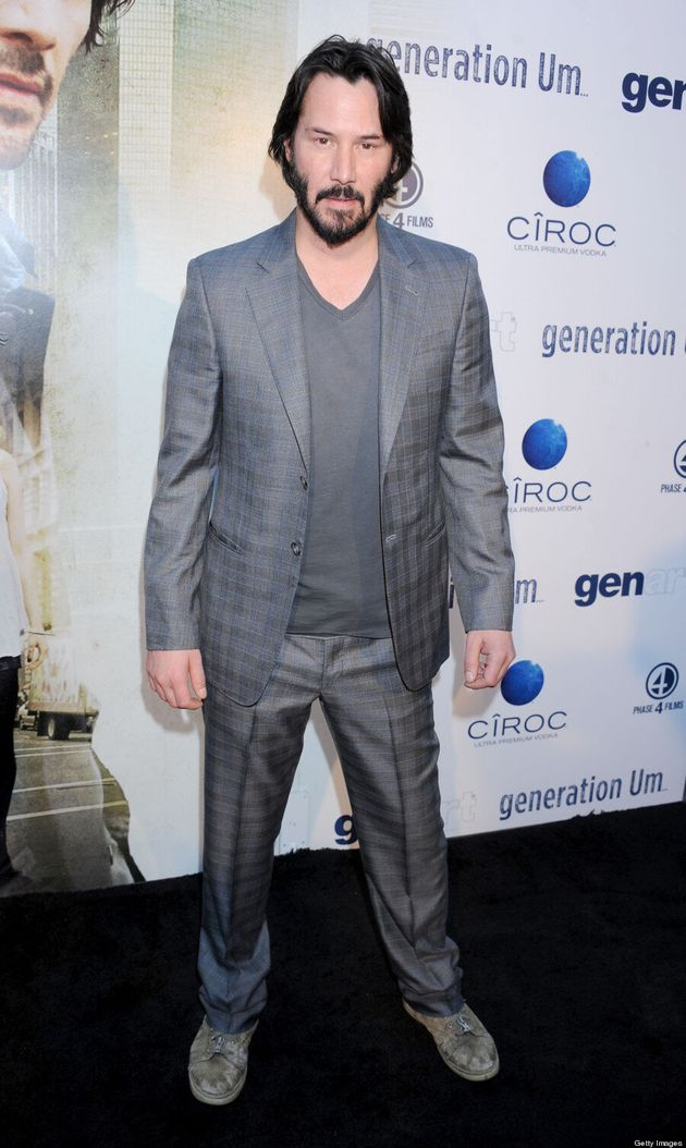 Keanu Reeves Wears Dirty Shoes To 'Generation Um' Premiere