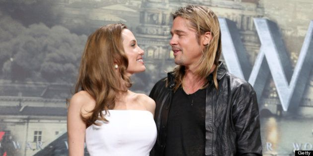 BERLIN, GERMANY - JUNE 04: Actors Angelina Jolie and Brad Pitt attend 'WORLD WAR Z' Germany Premiere at Sony Centre on June 4, 2013 in Berlin, Germany. (Photo by Sean Gallup/Getty Images for Paramount Pictures)