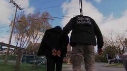 Camera Crews Film Border Agent