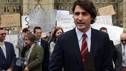 Protesters Crash Trudeau