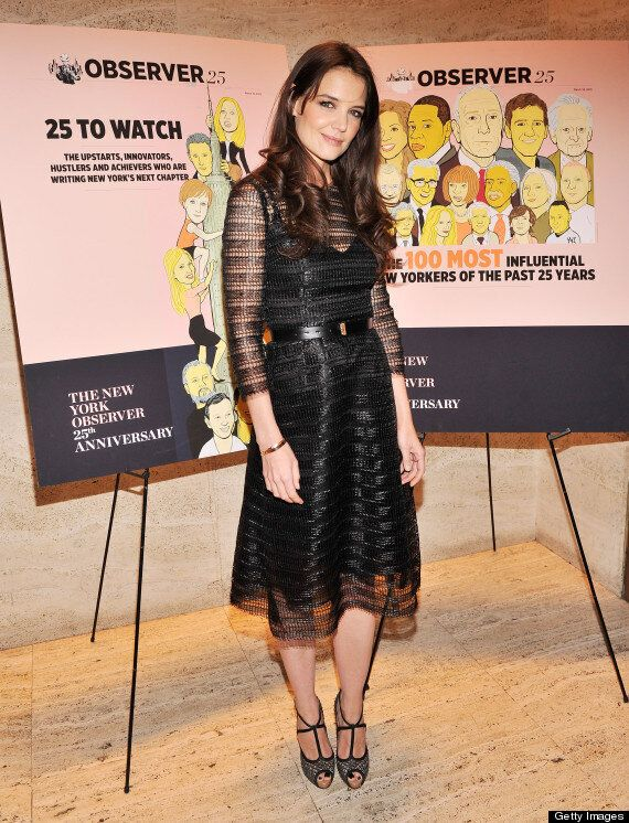 Katie Holmes In Mesh Dress Disaster