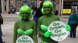 LOOK: PETA Protests In Green Bikinis And Body