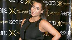 LOOK: Kim Shows Off Huge Bump In Skin-Tight