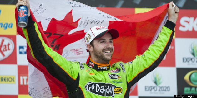 SAO PAULO, BRAZIL - MAY 5: James Hinchcliffe of Canada driver of the #27 Andretti Autosport Dallara Chevrolet...