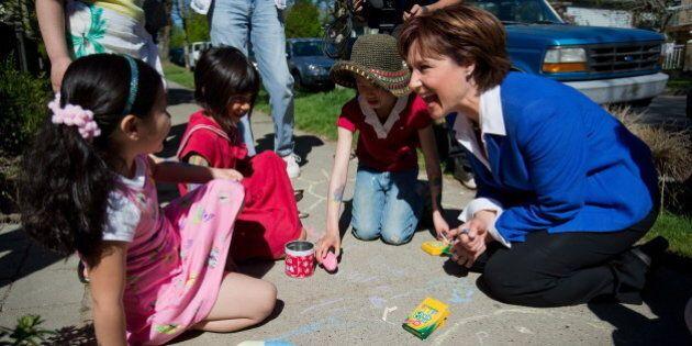 Christy Clark Warns Against NDP Education Grants