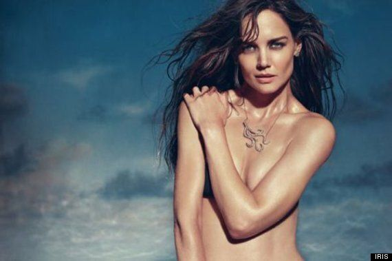 Katie Holmes Poses Topless In IRIS Ad Campaign