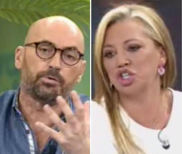 El tenso encuentro entre Diego Arrabal y Belén Esteban en 'Viva la