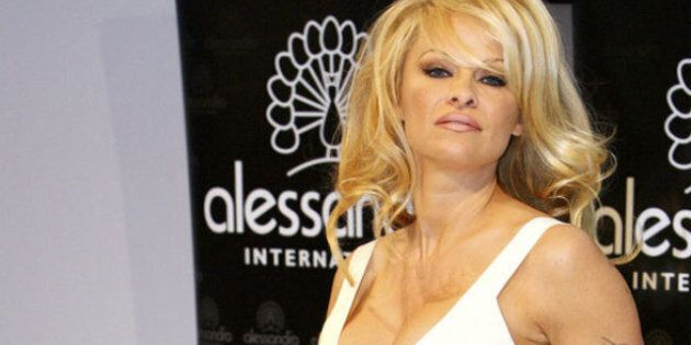 Pamela Anderson Promotes New Nail Polish Line In Germany