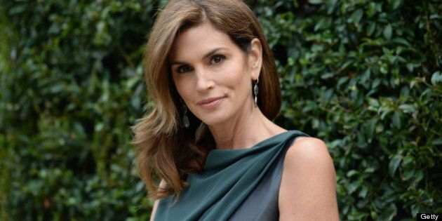 LOS ANGELES, CA - MAY 31: Model Cindy Crawford attends the CHANEL Dinner For NRDC 'A Celebration Of Art,...