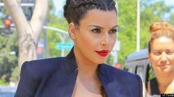 LOOK: Kim Kardashian Bares Baby Bump In Lace