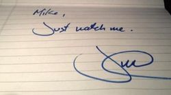 LOOK: Trudeau's Fearless Note To