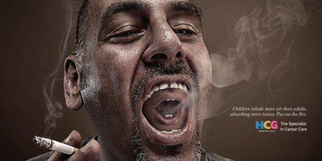 Second Hand Smoke: Creepy Dual-Smoker Ads
