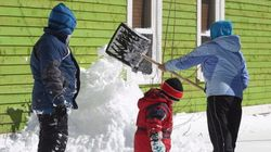 Massive Snow Dump For