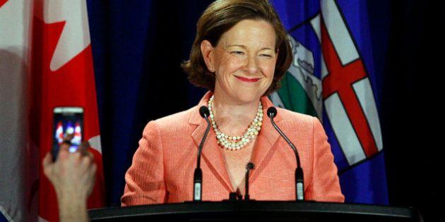 Alberta Premier Alison Redford Is A Boston Bruins