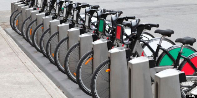 City bicycle rental.