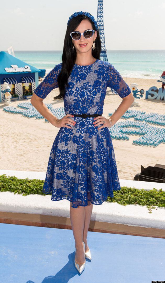 Katy Perry Channels Smurfette At 'The Smurfs 2' Photo Call