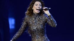 Shania Twain Rocks A Sequin Jumpsuit At Comeback