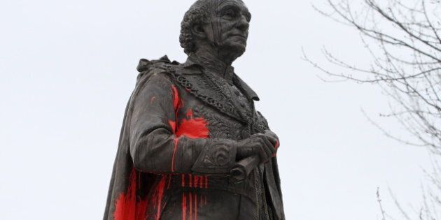 Sir John A. MacDonald Statue Defaced With 'Murderer' Graffiti