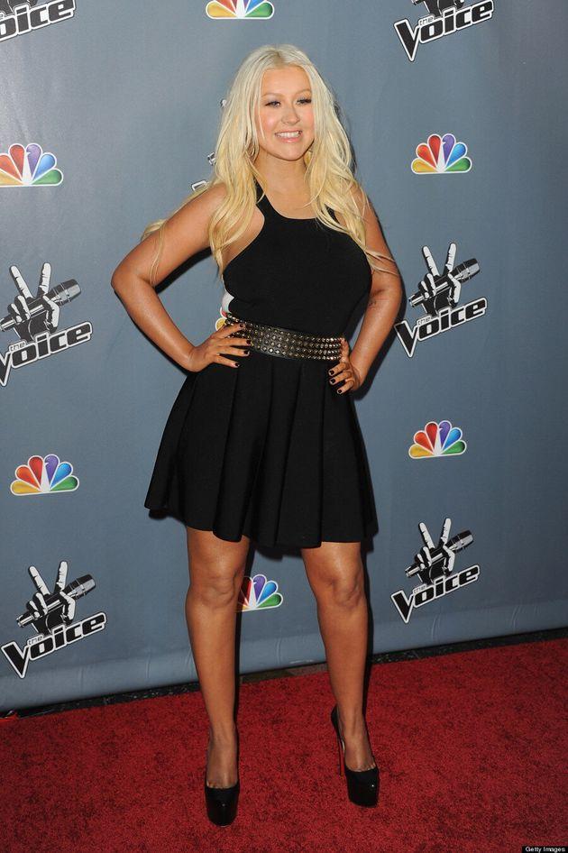 Christina Aguilera's New Svelte Look At 'The Voice' Season 4 Screening (VIDEO,