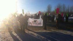 LOOK: Sturgeon Lake Cree Nation Block Highway