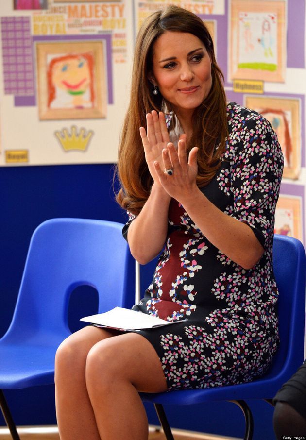 Kate Middleton Dresses Up Baby Bump In Floral Erdem Frock