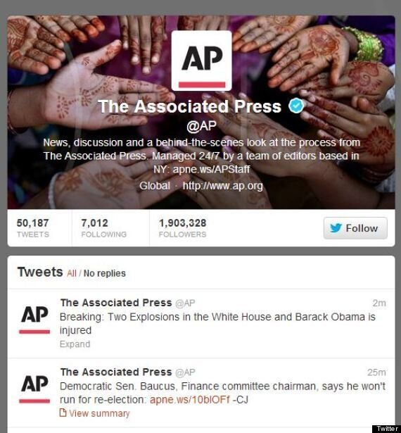 AP Twitter Hack Claims Obama Injured In White House