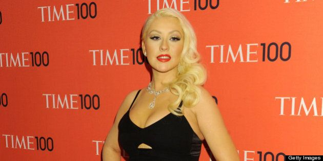 NEW YORK, NY - APRIL 23: Singer Christina Aguilera attends the 2013 Time 100 Gala at Frederick P. Rose...