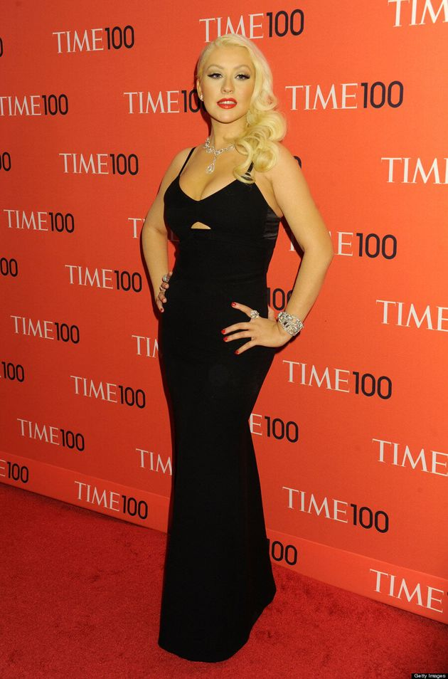 Christina Aguilera's Body Beautiful: Singer Shows Off Svelte Frame At Time 100 Gala