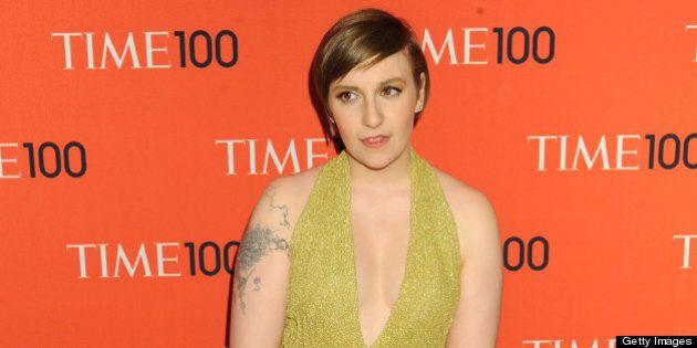 NEW YORK, NY - APRIL 23: Actress Lena Dunham attends the 2013 Time 100 Gala at Frederick P. Rose Hall,...