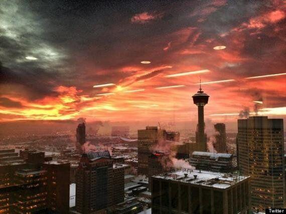 Calgary Sunrises Are Downright Apocalyptic