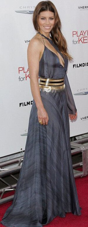 Jessica Biel Side Boob: Star's Outfit Leaves Little To The Imagination At 'Playing For Keeps'