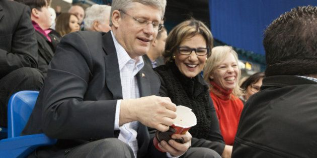 Harper's Tim Hortons Love Affair Continues (PHOTO,
