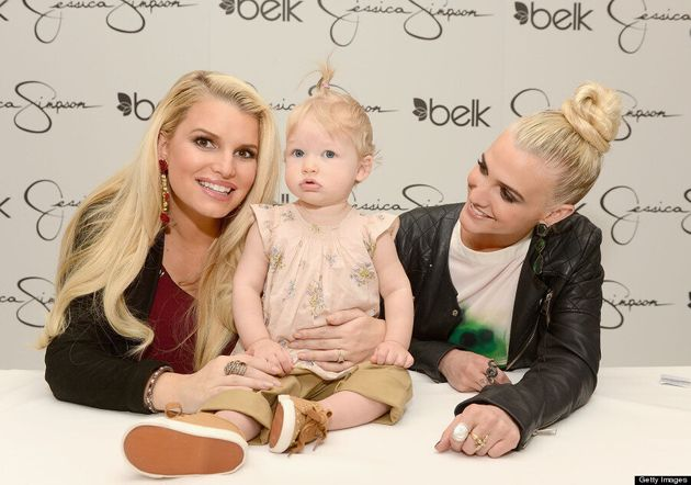 Jessica Simpson, Ashlee Simpson Show Off Competing Hairstyles