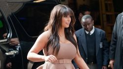 Kim Kardashian Almost Spills Out Of