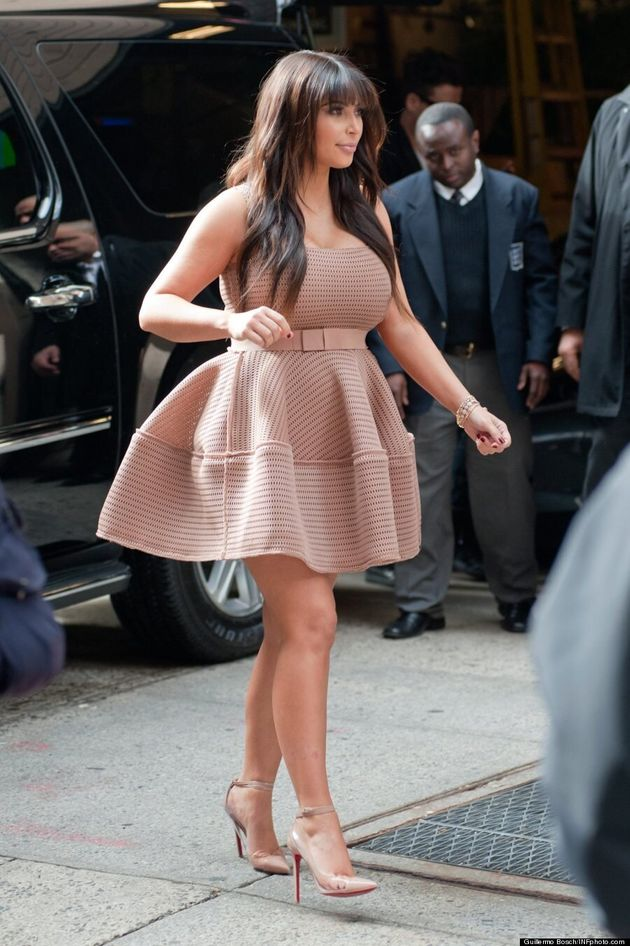 Kim Kardashian's Boobs Barely Contained In New Dress