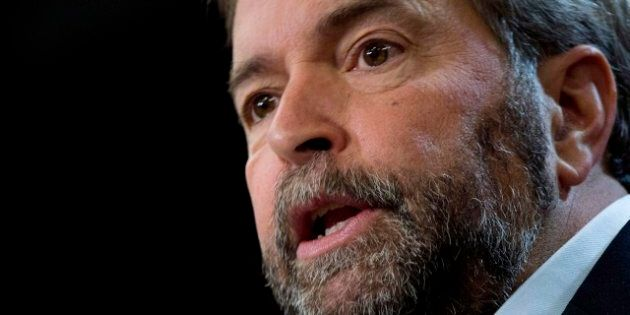 Mulcair Meeting With Premiers And NDP Leaders Takes Page From Tory