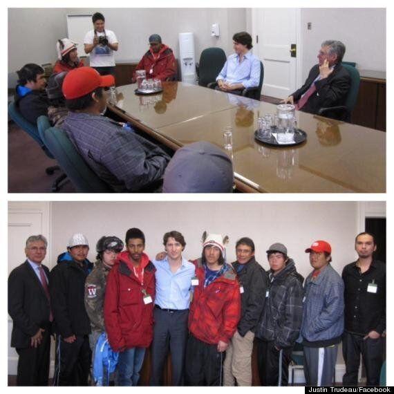 Nishiyuu Walkers Meet With Justin Trudeau, Bernard Valcourt