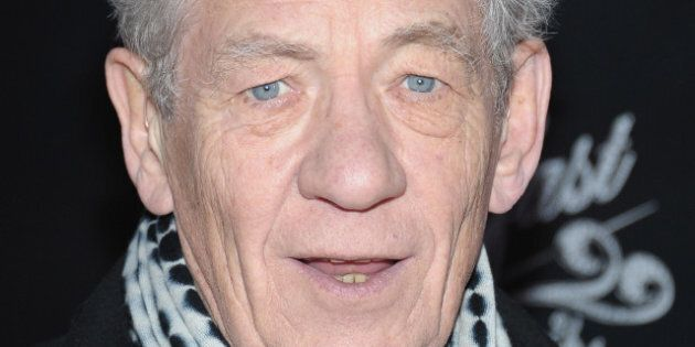 NEW YORK, NY - MARCH 20: Actor Sir Ian McKellen attends the 'Breakfast At Tiffany's' Broadway Opening...
