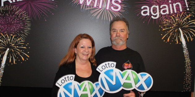 Laurie, Darrell Szczerba Win Lotto Max $30 Million